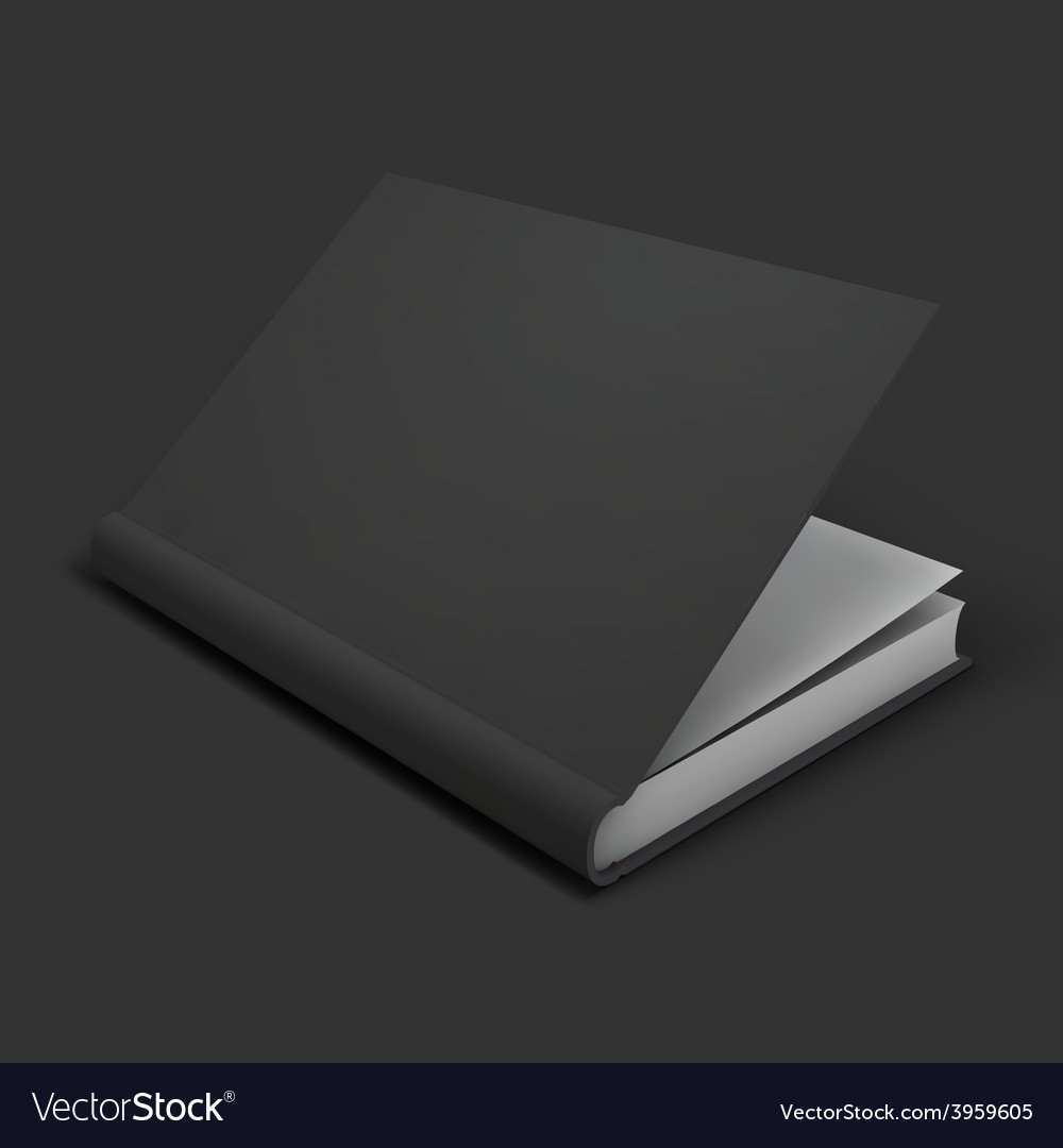 Blank book textbook booklet or notebook mockup vector | Price: 1 Credit (USD $1)