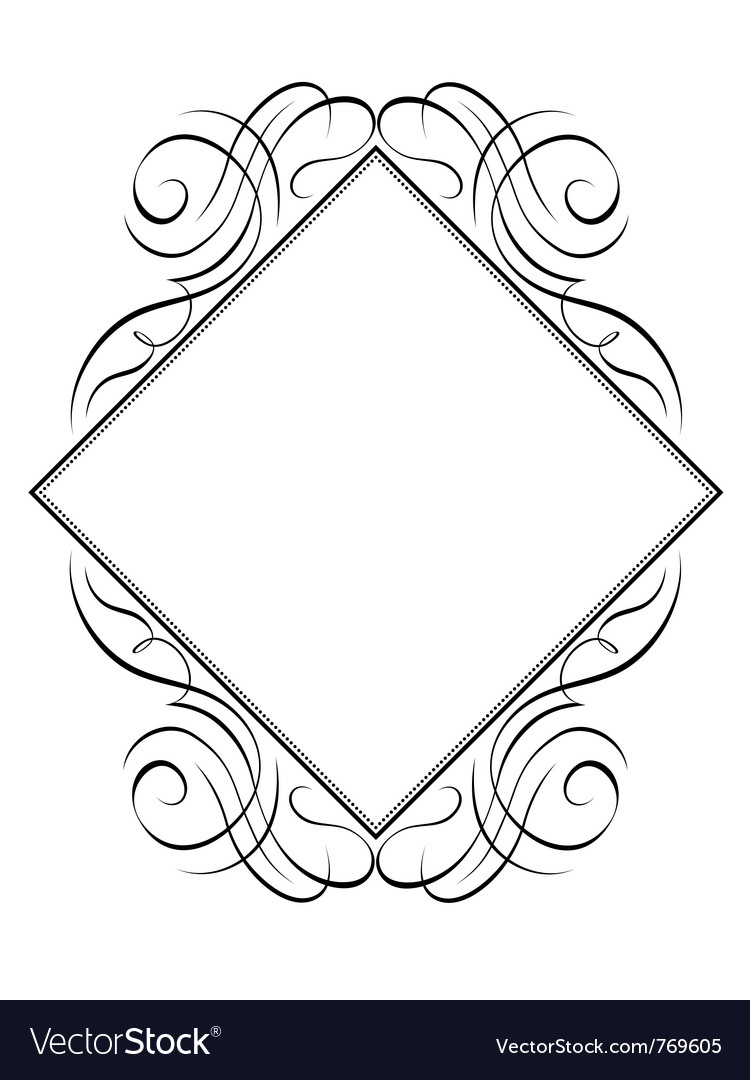 Calligraphy diamond pattern vector | Price: 1 Credit (USD $1)