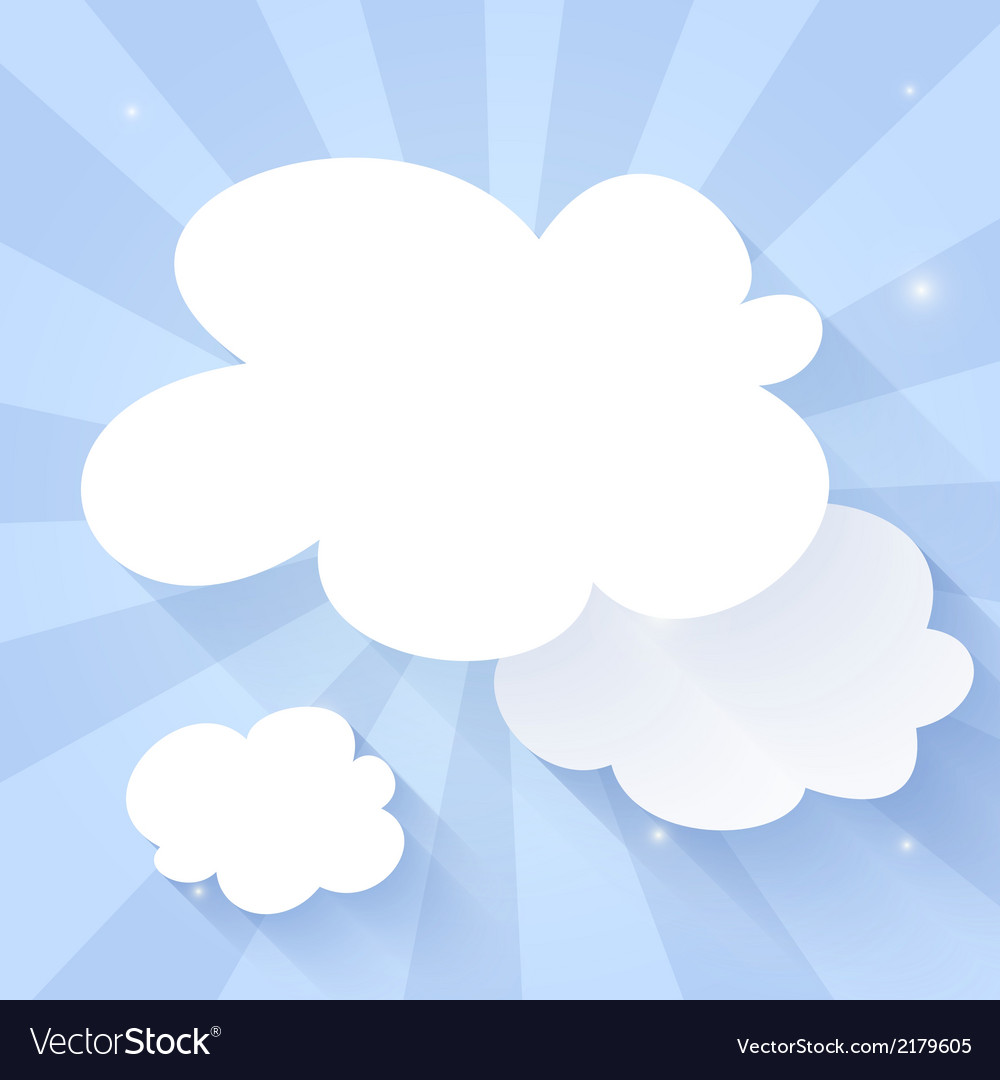 Cloud icon on a blue vector | Price: 1 Credit (USD $1)