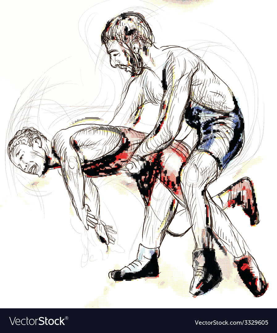 Greco roman wrestling vector | Price: 3 Credit (USD $3)