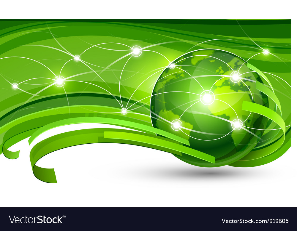 Green planet vector | Price: 1 Credit (USD $1)