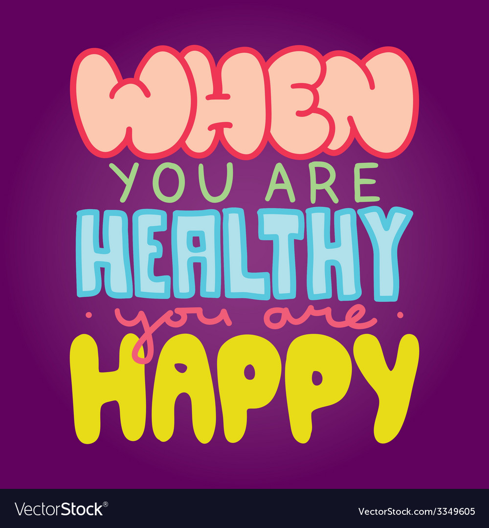 Healthy and happy vector | Price: 1 Credit (USD $1)