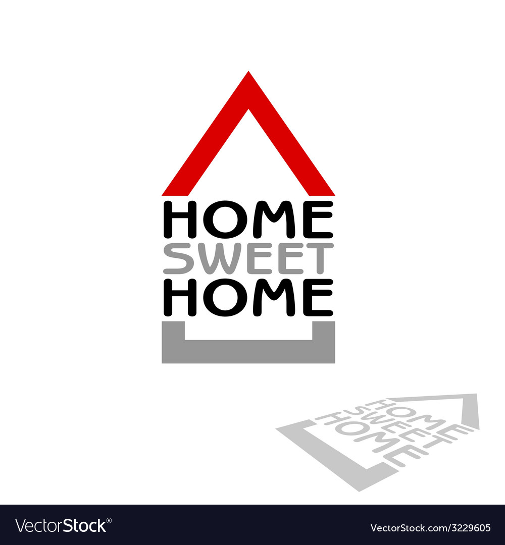 Home sweet home icon vector | Price: 1 Credit (USD $1)