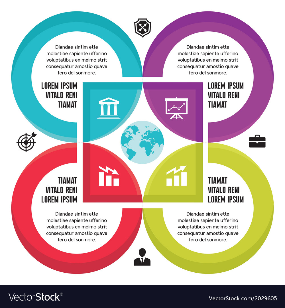 Infographic business concept for presentation vector   Price: 1 Credit (USD $1)