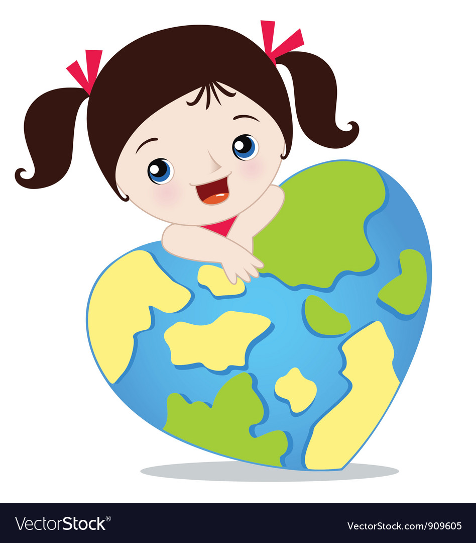 Love the earth vector | Price: 3 Credit (USD $3)
