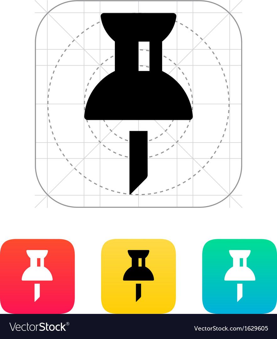 Mapping push pin icon vector | Price: 1 Credit (USD $1)