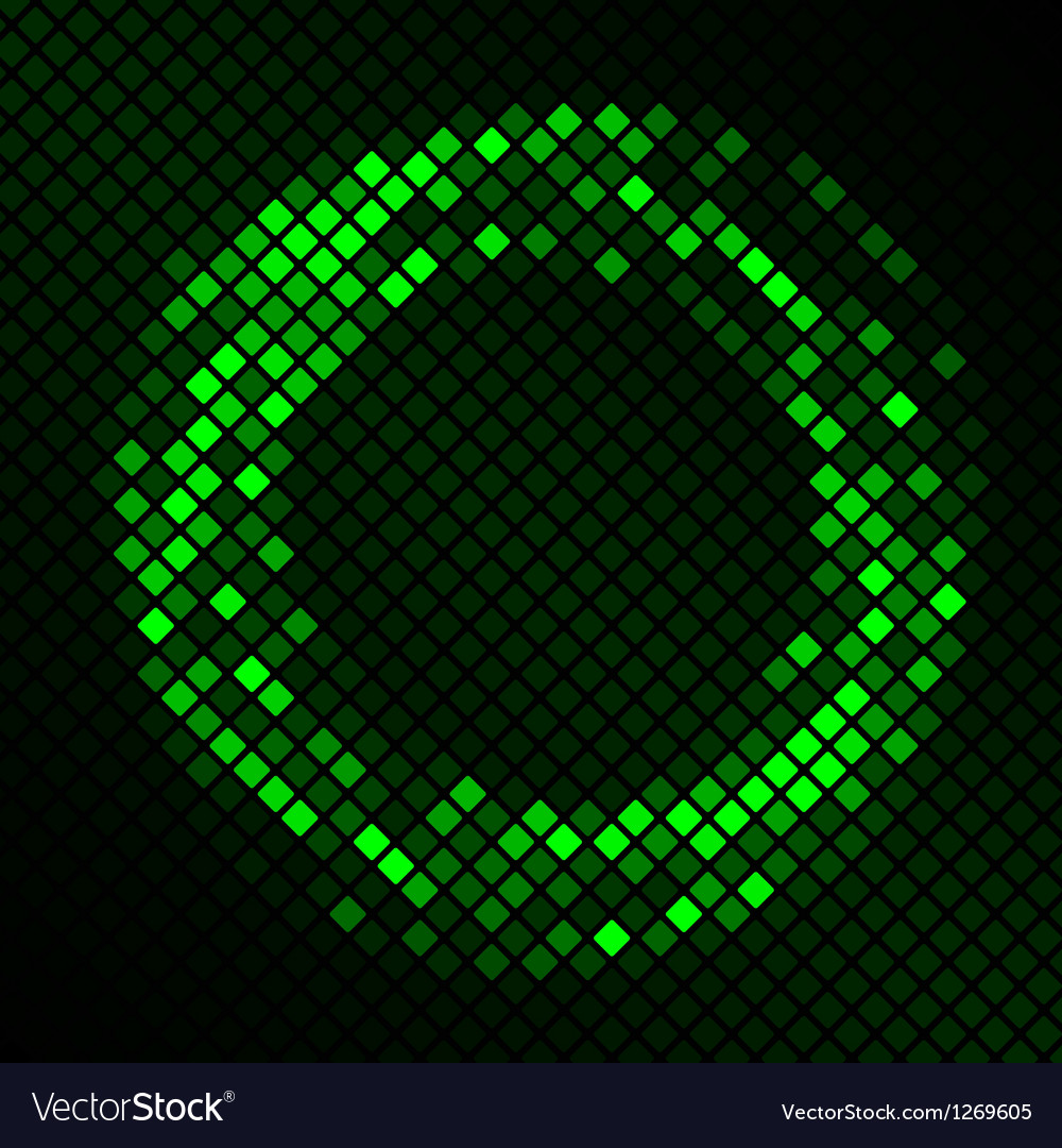 Mosaic with green plasma circle effect vector | Price: 1 Credit (USD $1)
