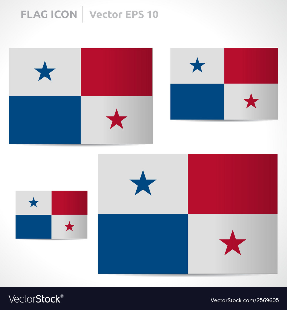 Panama flag template vector | Price: 1 Credit (USD $1)