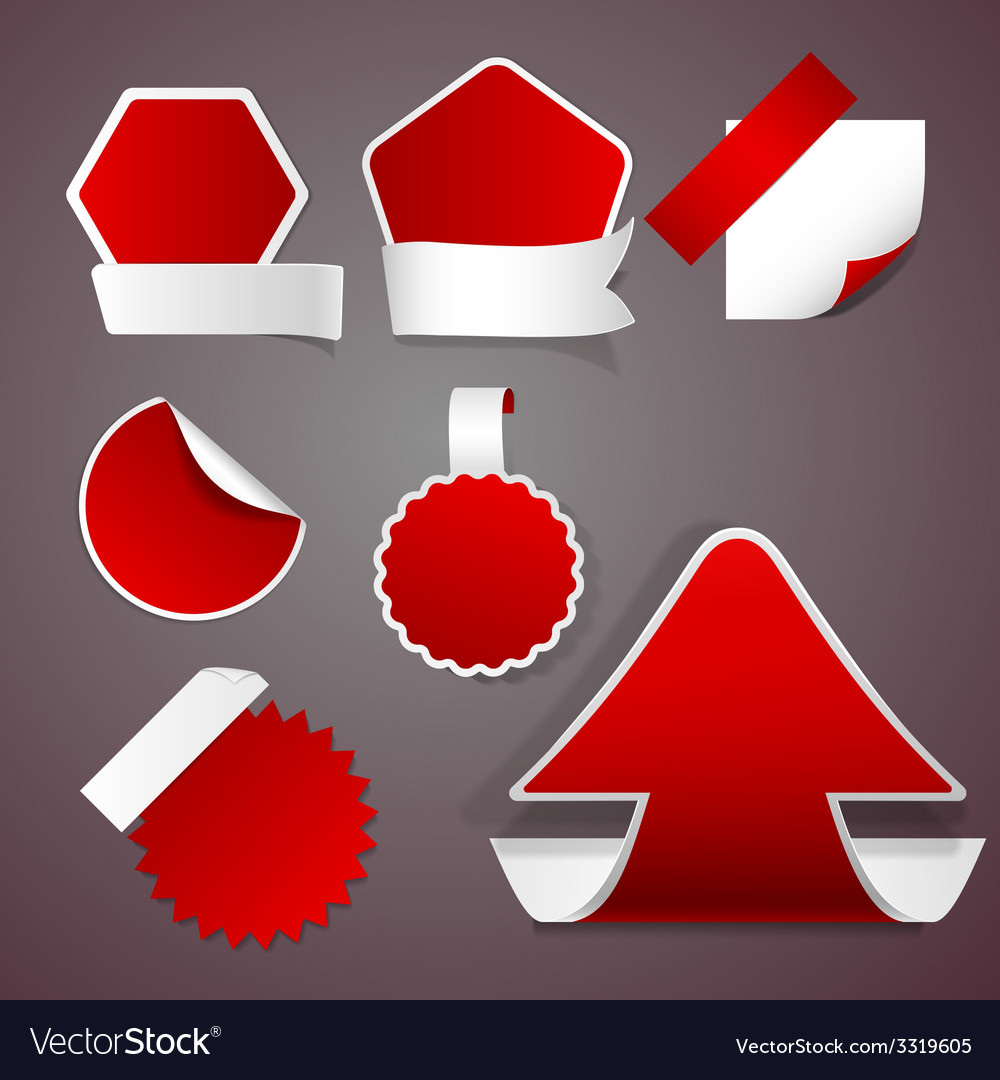Red stickers vector | Price: 1 Credit (USD $1)