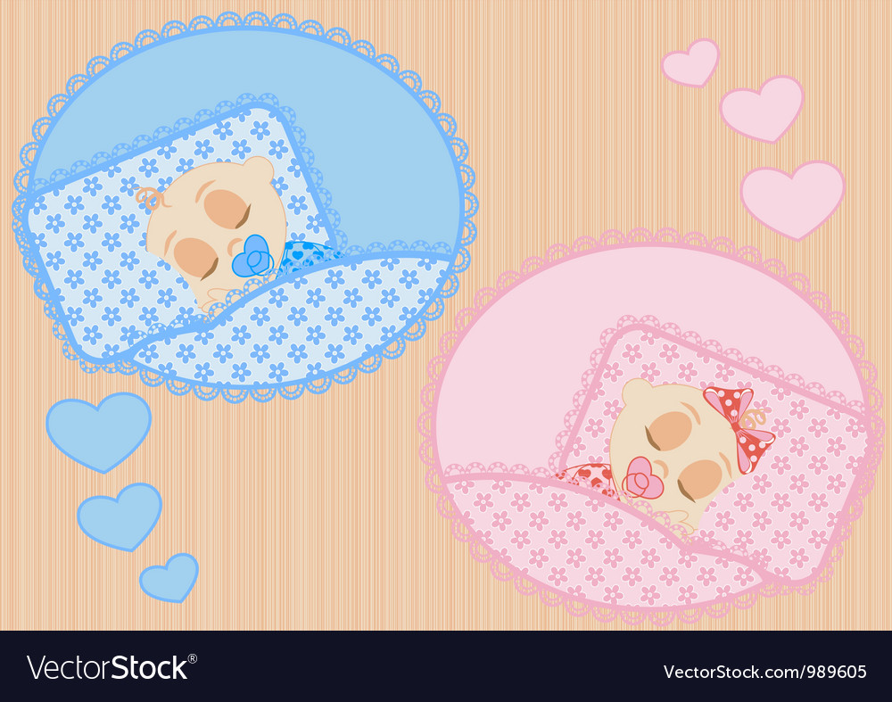 Sleeping children vector | Price: 1 Credit (USD $1)