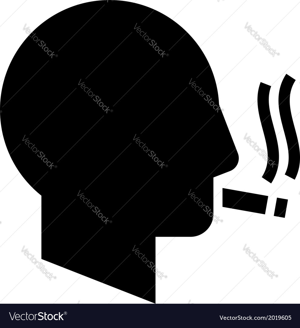 Smoking man icon vector | Price: 1 Credit (USD $1)