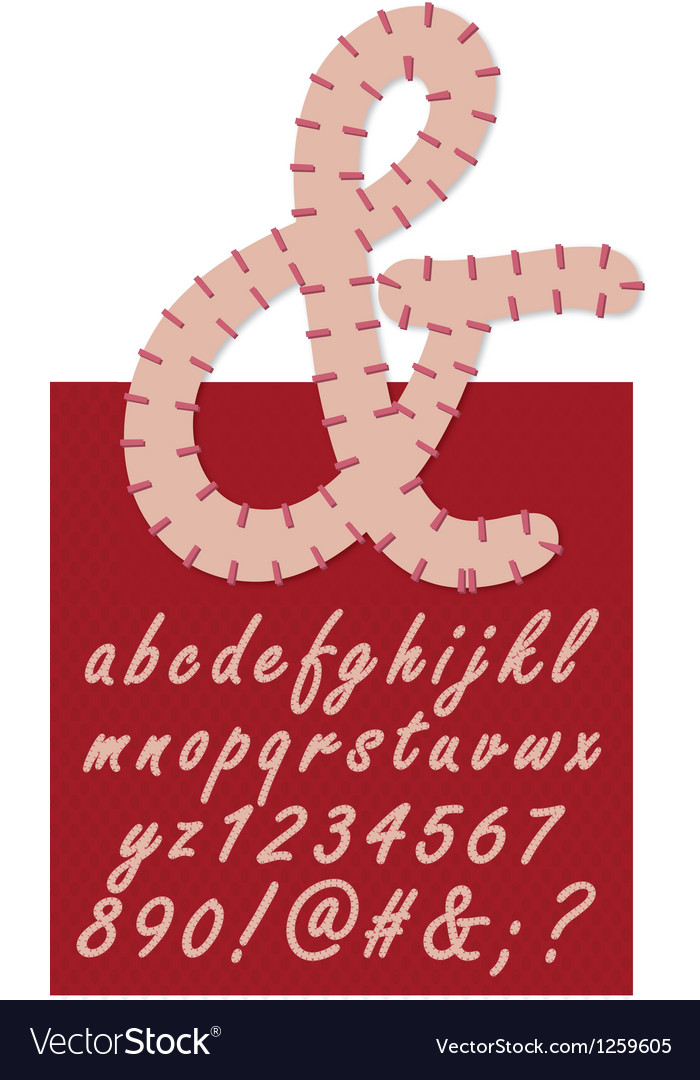 Stitched numbers and letters vector   Price: 1 Credit (USD $1)