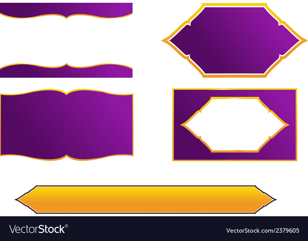 Thai frame and border style vector | Price: 1 Credit (USD $1)