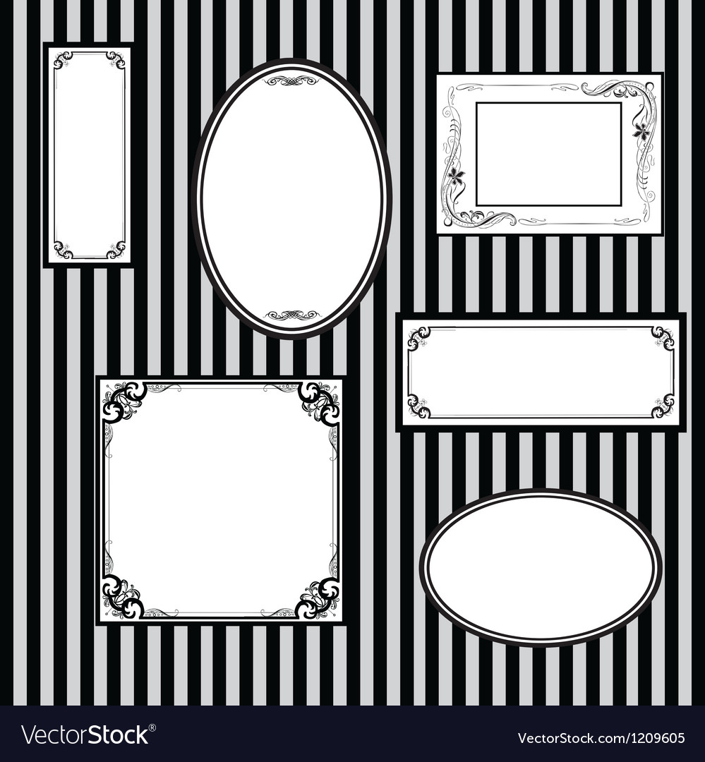 Wall with frames for paintings vector | Price: 1 Credit (USD $1)
