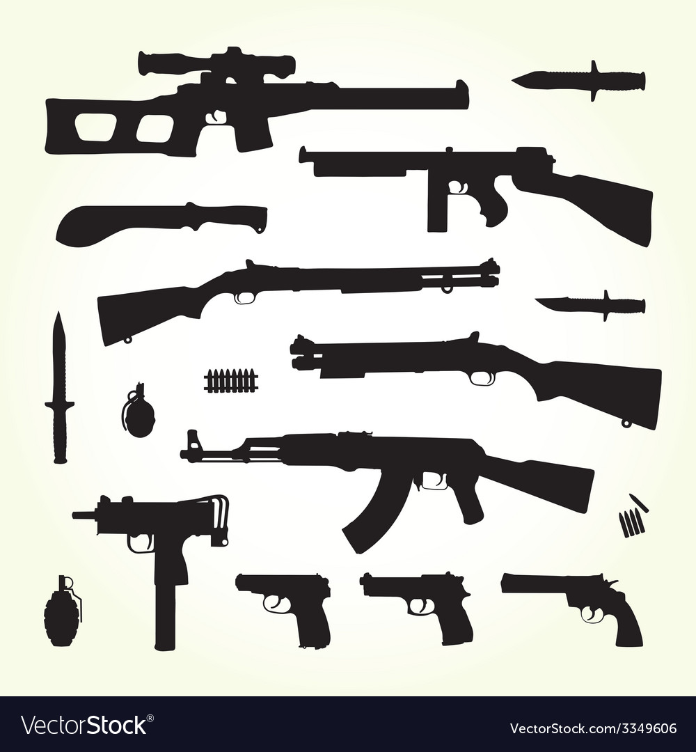 Army weapons vector | Price: 1 Credit (USD $1)