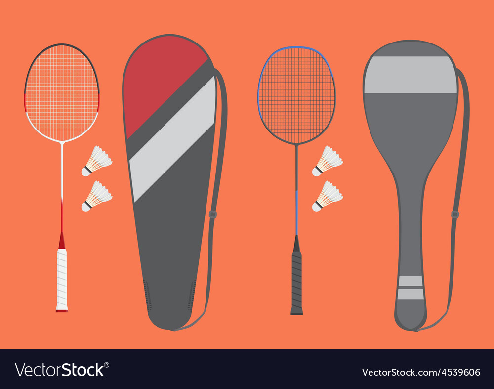 Badminton racket vector | Price: 1 Credit (USD $1)