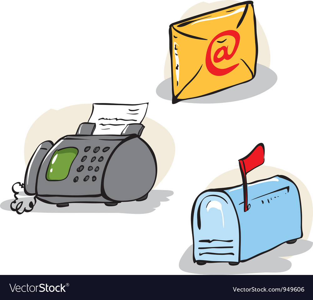 Communication objects set vector | Price: 1 Credit (USD $1)