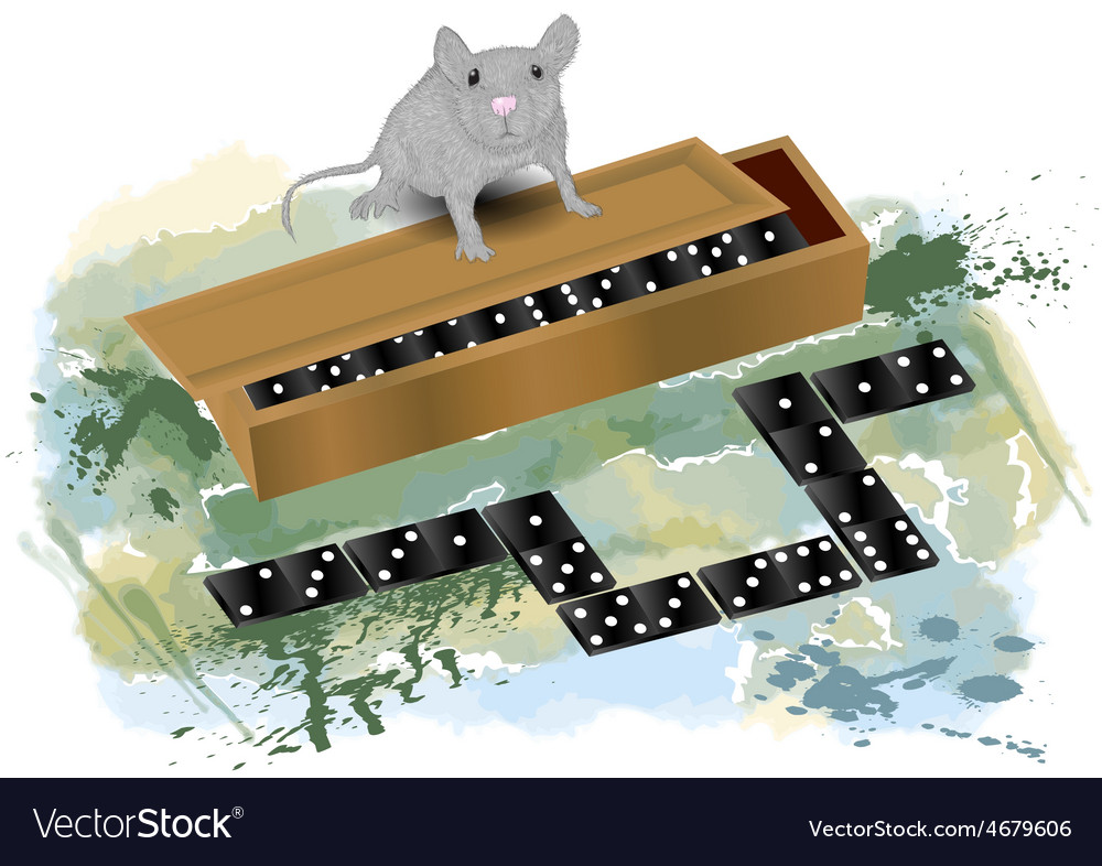 Domino and mouse vector | Price: 1 Credit (USD $1)
