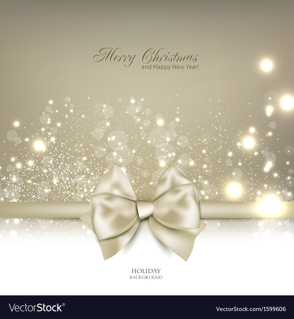 Elegant christmas background with bow and place vector   Price: 1 Credit (USD $1)