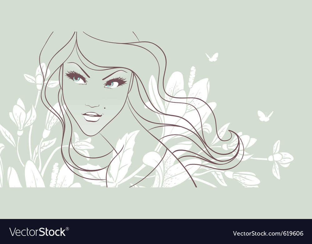 Girls face vector | Price: 3 Credit (USD $3)