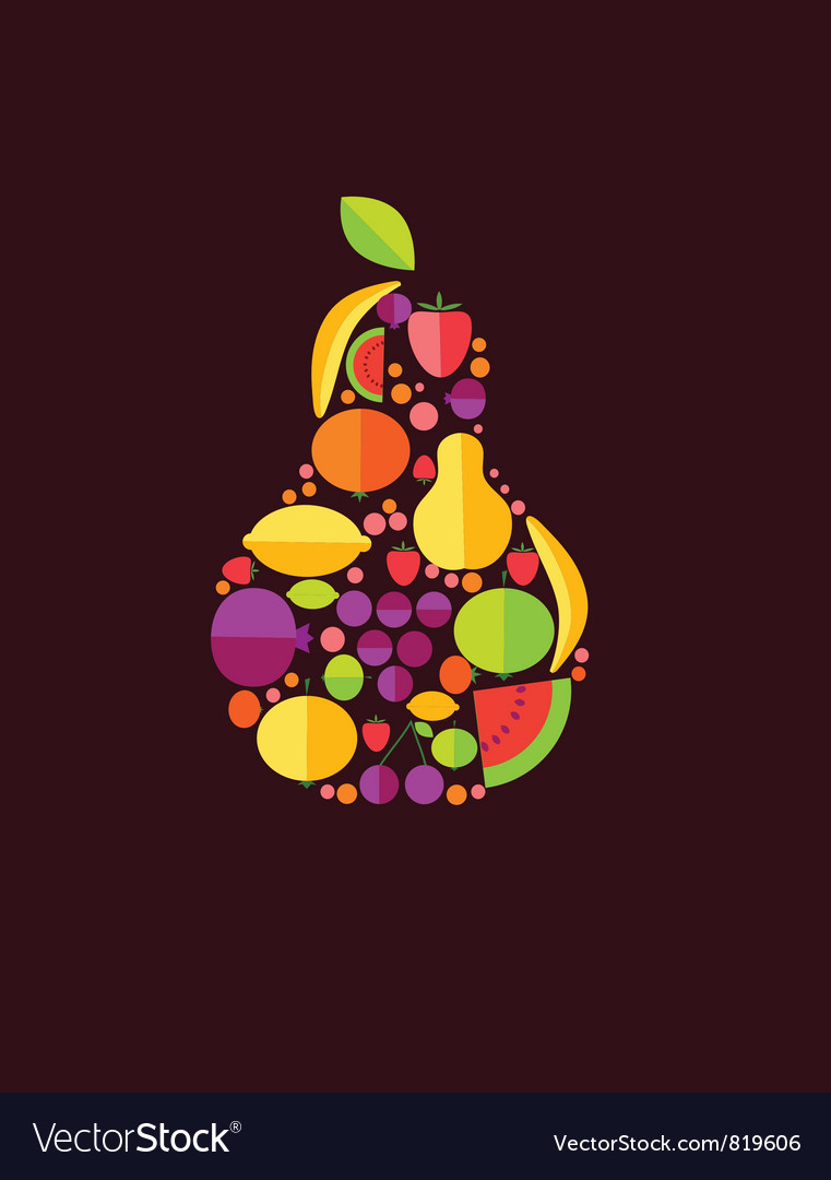 Pear from fruit vector | Price: 1 Credit (USD $1)