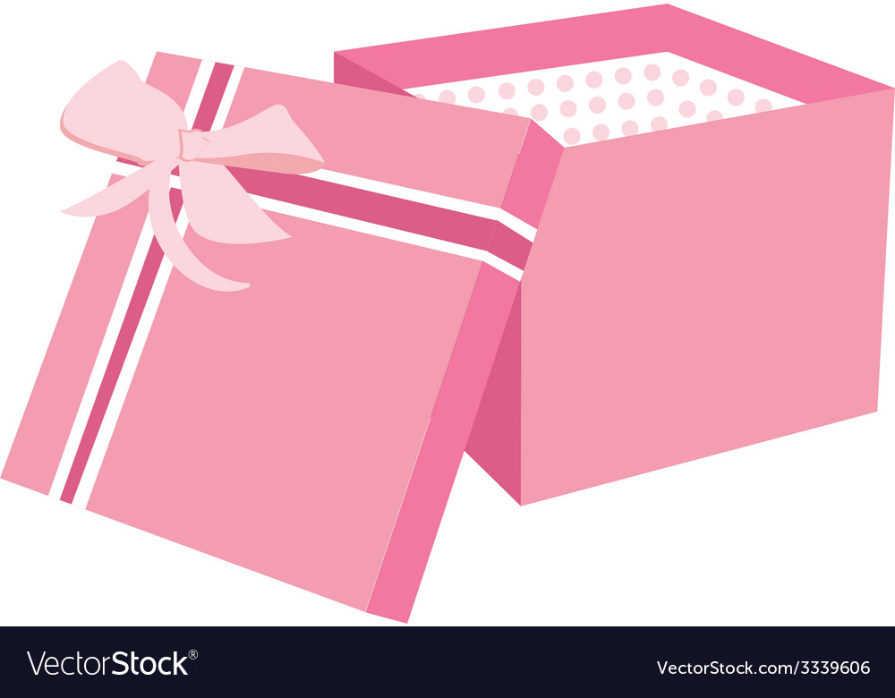 Pink gift box vector | Price: 1 Credit (USD $1)