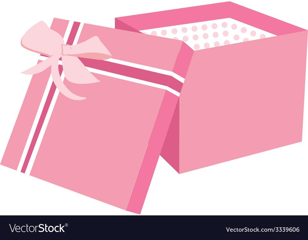 Pink gift box vector   Price: 1 Credit (USD $1)