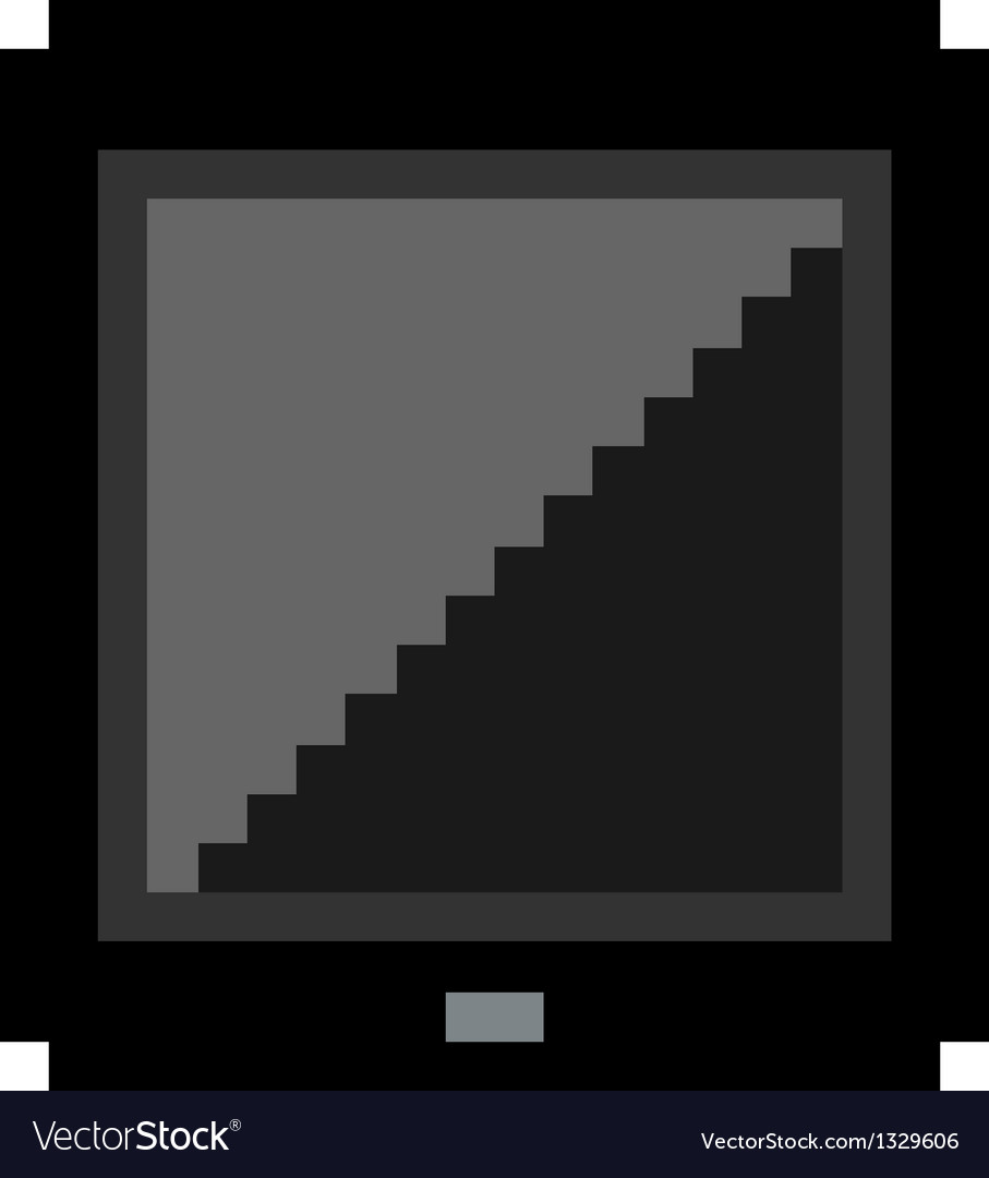 Pixel art black tablet vector | Price: 1 Credit (USD $1)
