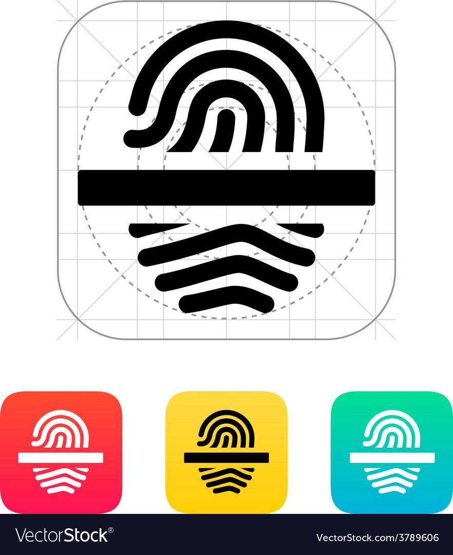 Scanning finger icon vector | Price: 1 Credit (USD $1)