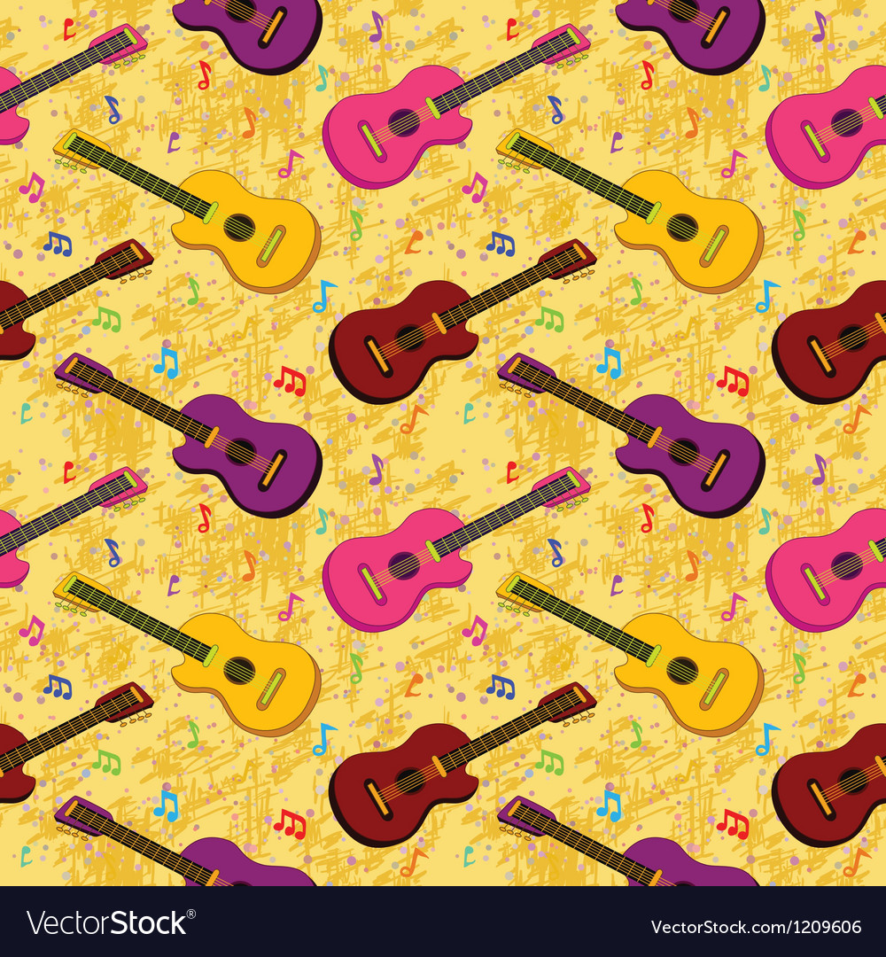 Seamless background guitars vector | Price: 1 Credit (USD $1)