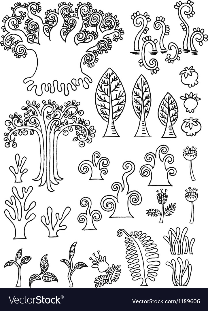 Tree doodle vector | Price: 1 Credit (USD $1)