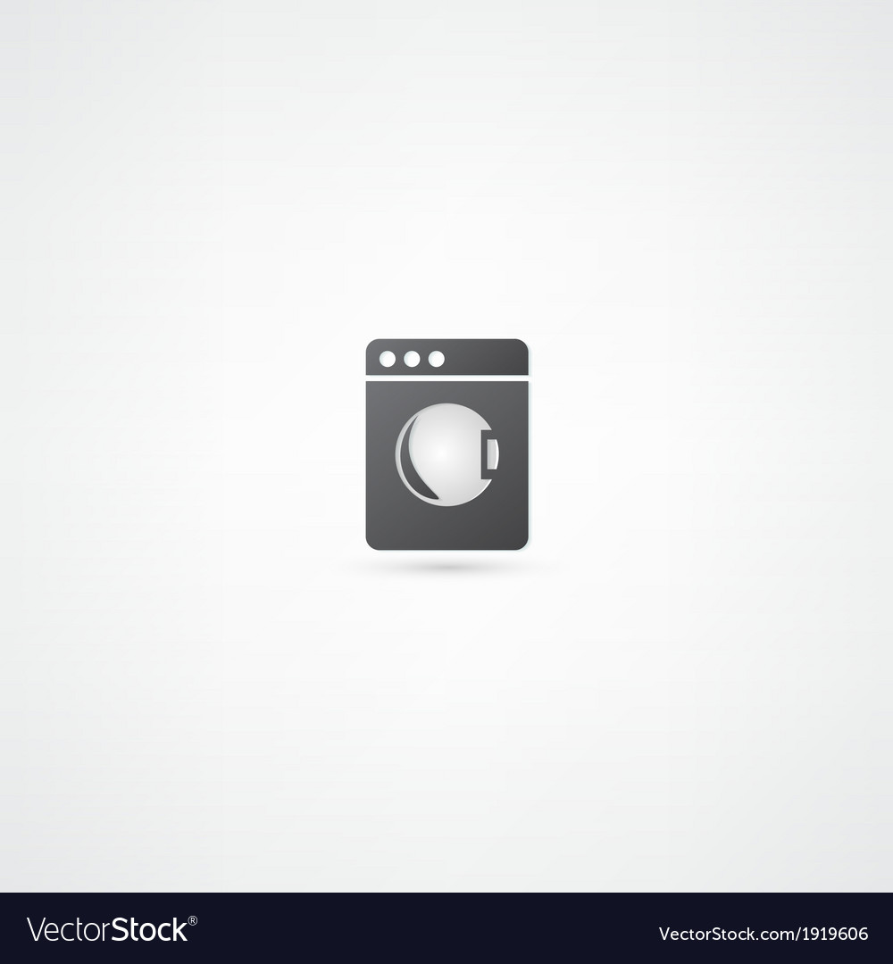 Washing machine icon vector   Price: 1 Credit (USD $1)