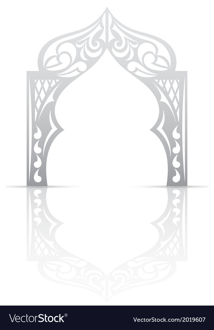 Abstract background with arch in the asian style vector | Price: 1 Credit (USD $1)