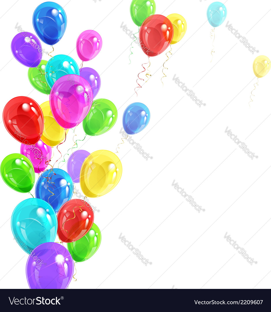 Background of balloons vector | Price: 1 Credit (USD $1)