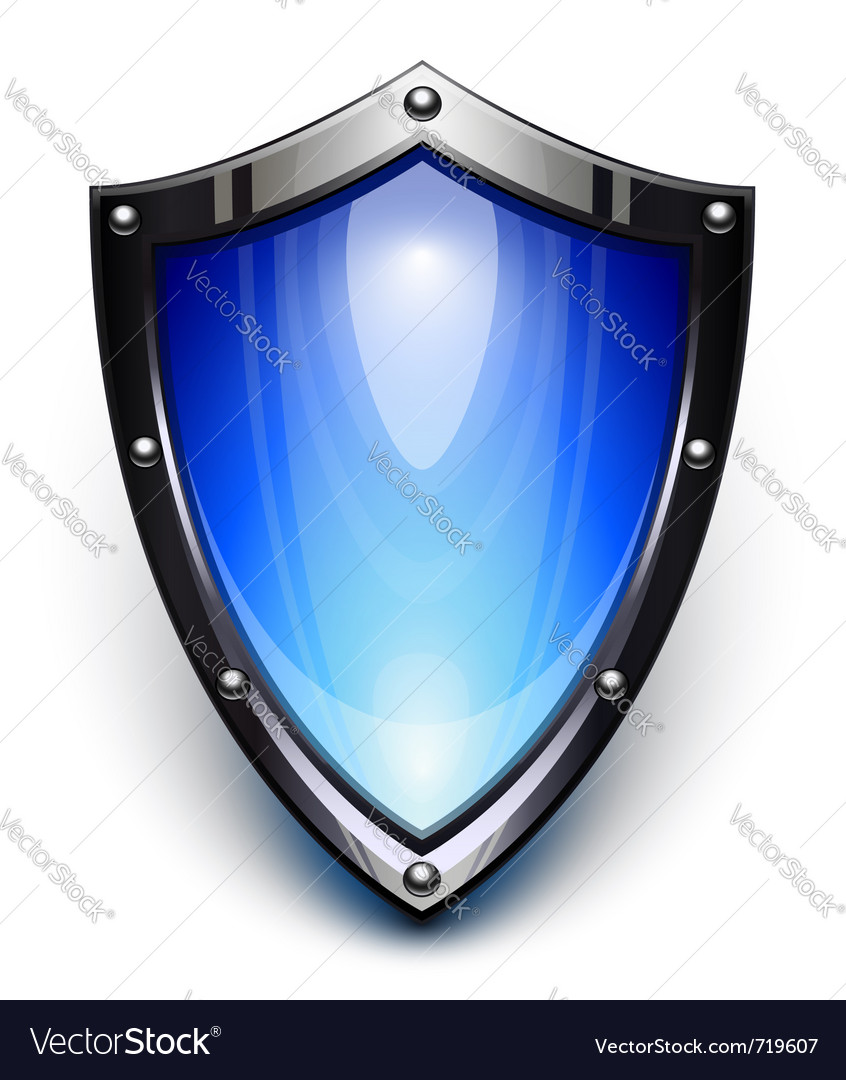 Blue security shield vector | Price: 1 Credit (USD $1)