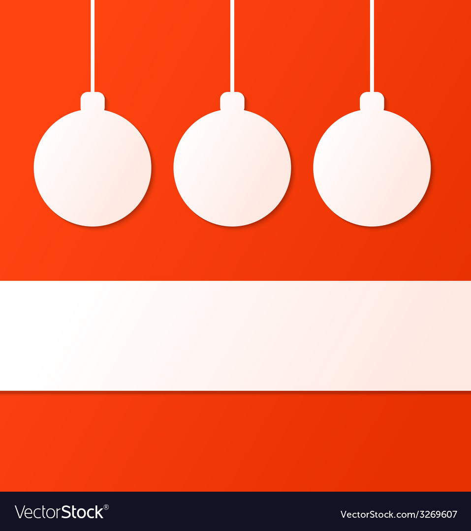 Christmas ball background with place for text vector | Price: 1 Credit (USD $1)