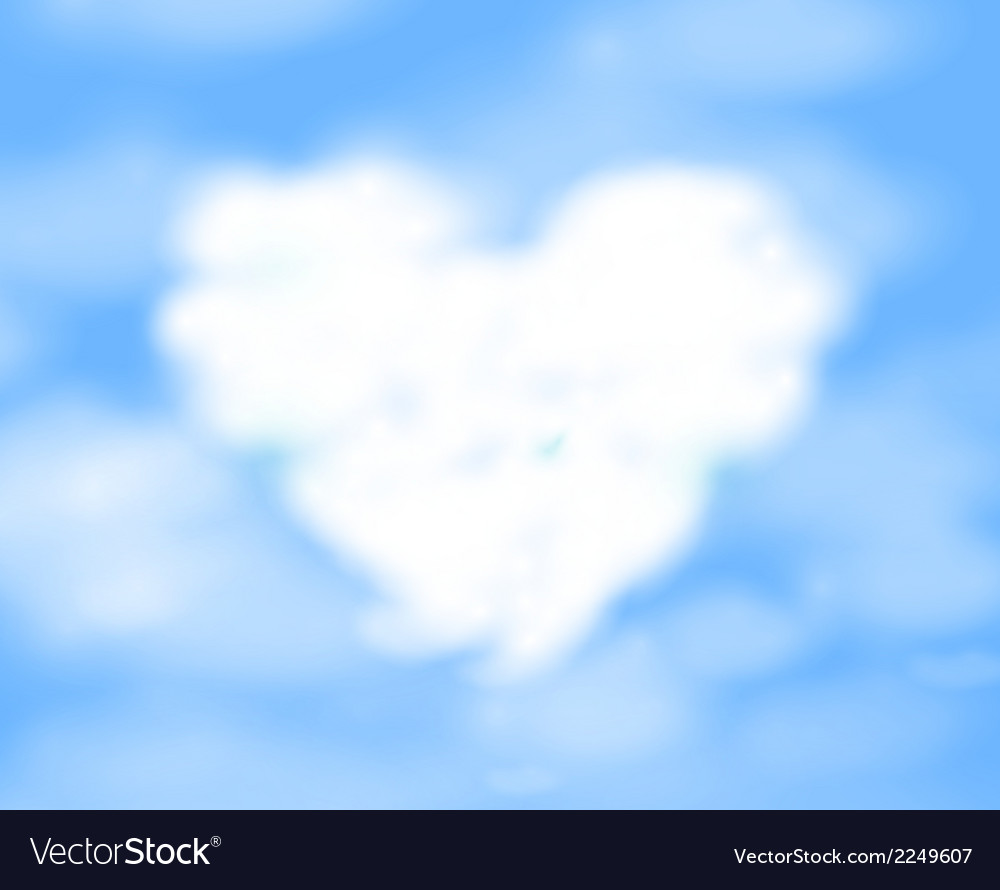 Cloudy heart vector | Price: 1 Credit (USD $1)