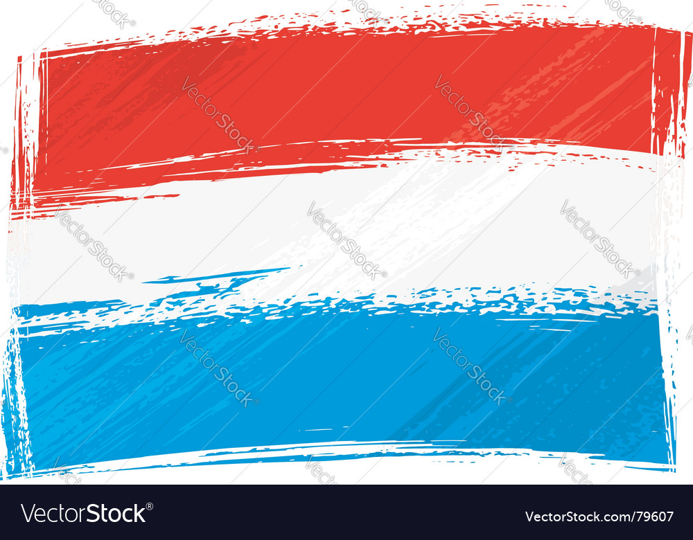 Grunge luxembourg flag vector | Price: 1 Credit (USD $1)