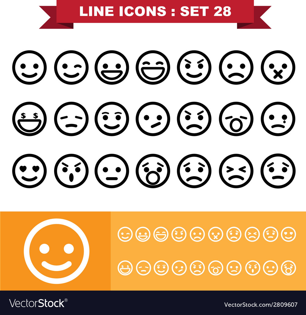 Line icons set 28 vector | Price: 1 Credit (USD $1)