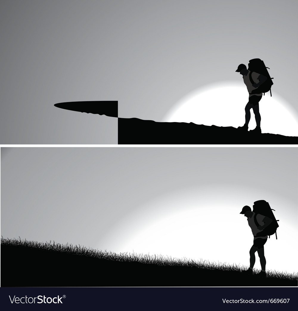 Man with a backpack vector | Price: 1 Credit (USD $1)