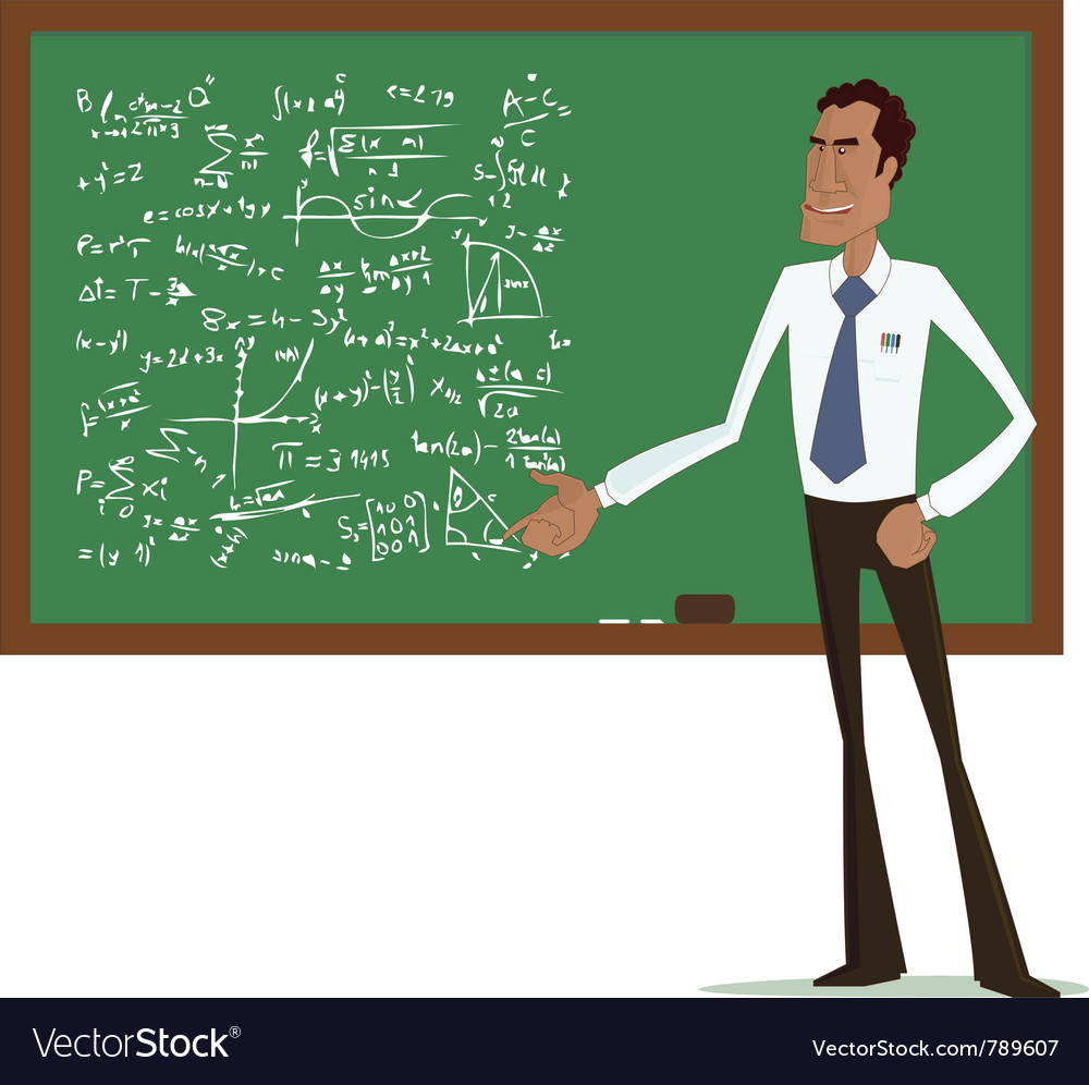 Maths teacher vector | Price: 1 Credit (USD $1)