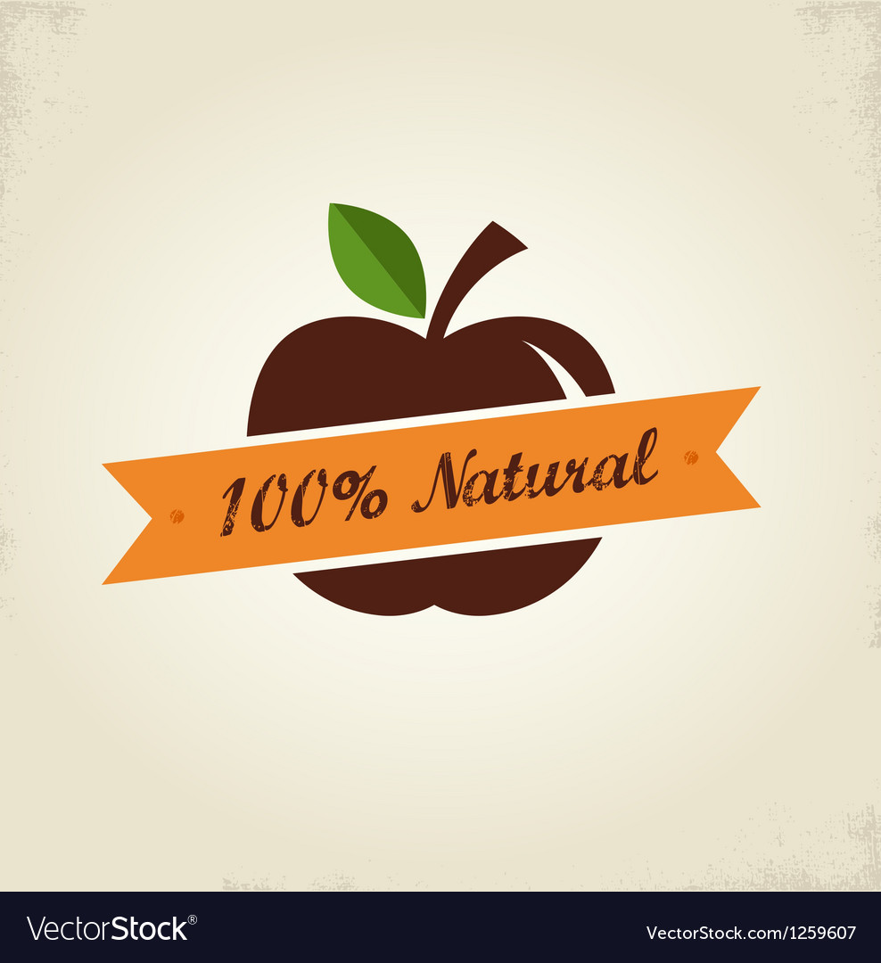 Organic food label tag and graphi element vector | Price: 1 Credit (USD $1)