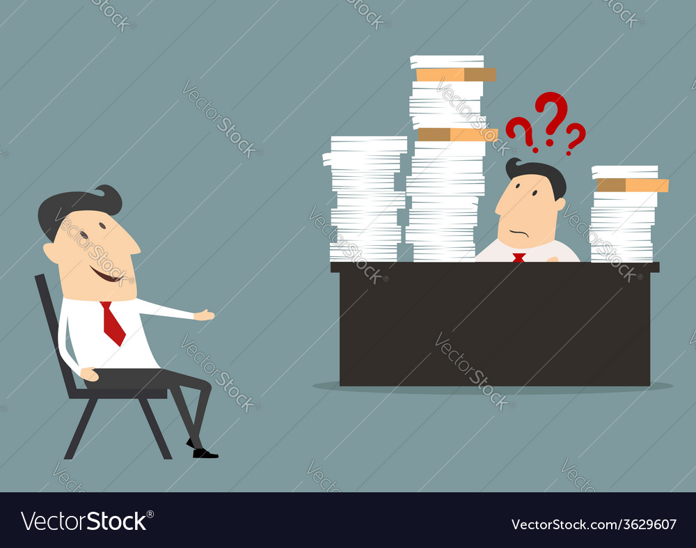 Overworked businessman vector | Price: 1 Credit (USD $1)
