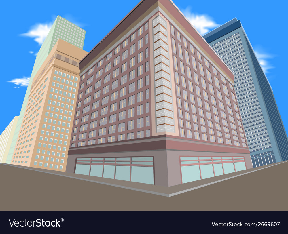 Residential city vector | Price: 1 Credit (USD $1)