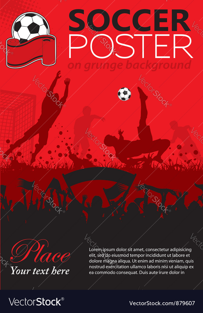 Soccer poster vector | Price: 1 Credit (USD $1)