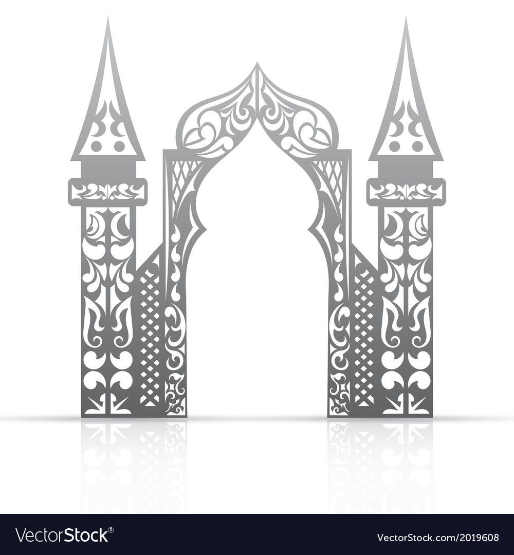 Background with arch in the asian style vector | Price: 1 Credit (USD $1)