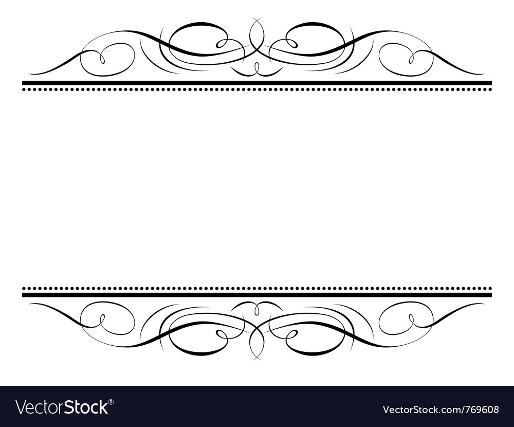 Calligraphy vignette ornamente vector | Price: 1 Credit (USD $1)