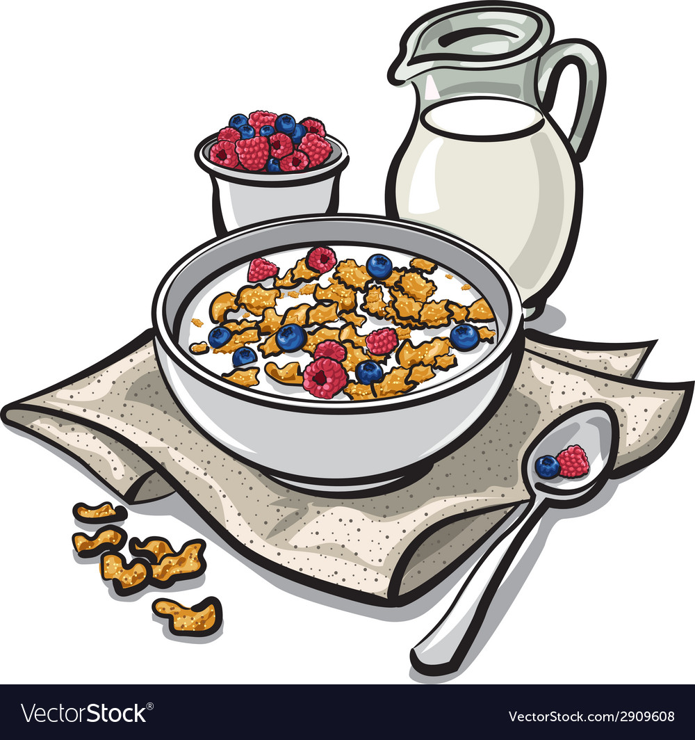 Cereal breakfast vector | Price: 3 Credit (USD $3)