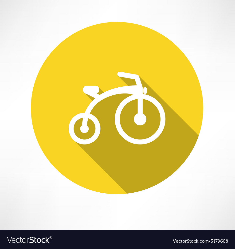 Child bike flat vector   Price: 1 Credit (USD $1)