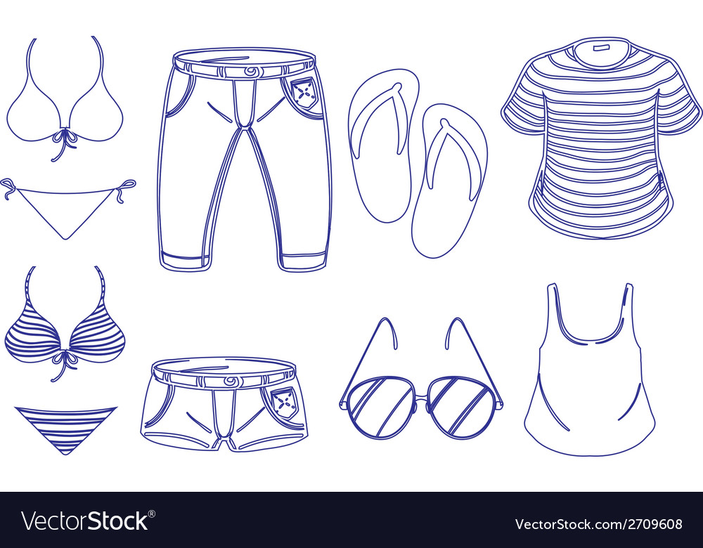 Different outfits for summer vector   Price: 1 Credit (USD $1)